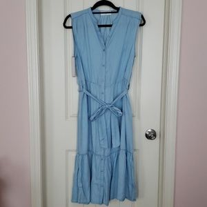 Goodnight Macaroon Valda Chambray Shirt Dress XL